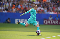 DECINES-CHARPIEU, FRANCE - JULY 07: Sari van Veenendaa #1 during the 2019 FIFA Women's World Cup France Final match between Netherlands and the United States at Groupama Stadium on July 07, 2019 in Decines-Charpieu, France.