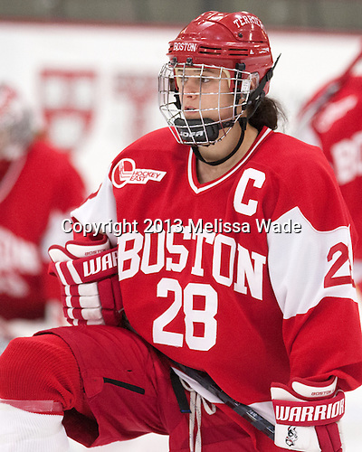 Louise Warren (BU - 28) - The Harvard University Crimson defeated the visiting Boston University Terriers 3-1 on Friday, November 22, 2013, at Bright-Landry Hockey Center in Cambridge, Massachusetts.