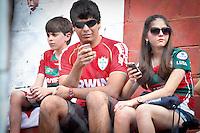 ATENÇÃO EDITOR: FOTO EMBARGADA PARA VEÍCULOS INTERNACIONAIS SÃO PAULO,SP,02 DEZEMBRO 2012 - CAMPEONATO BRASILEIRO - PORTUGUESA x PONTE PRETA - Torcedores  da Portuguesa antes  partida Portuguesa x Ponte Preta válido pela 38º rodada do Campeonato Brasileiro no Estádio Doutor Osvaldo Teixeira Duarte (Canindé), na região norte da capital paulista na noite deste domingo (02).(FOTO: ALE VIANNA -BRAZIL PHOTO PRESS).
