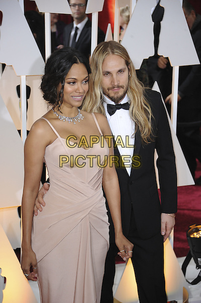 HOLLYWOOD, CA - FEBRUARY 22: Zoe Saldana attends 87th Annual Academy Awards at The Dolby Theater on February 22nd, 2015 in Hollywood, California. <br /> CAP/MPI/PGMP<br /> &copy;PGMP/MPI/Capital Pictures