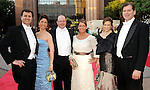 From left: George Caflisch, Jill Schaar, John Novitsky, Karen Sachar, Pamela Griffin Minnich and Gene Minnich at the Houston Grand Opera's Yellow Rose Ball at the Wortham Theater Saturday April 10,2010. (Dave Rossman Photo)