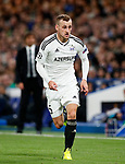 Qarabag's Maksim Medvedev in action during the champions league match at Stamford Bridge Stadium, London. Picture date 12th September 2017. Picture credit should read: David Klein/Sportimage