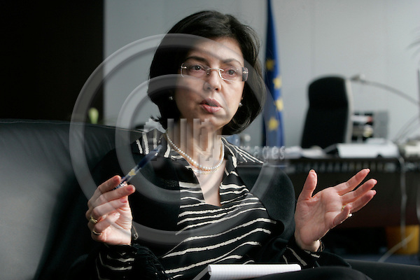 BRUSSELS - BELGIUM - 09 MARCH 2007 -- Meglena KUNEVA, Bulgarian EU-Commissioner for Health and Consumer Protection. -- PHOTO: JUHA ROININEN / EUP-IMAGES