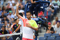 FLUSHING NY- SEPTEMBER 02: Novak Djokovic Vs Mikhail Youzhny on Arthur Ashe Stadium at the USTA Billie Jean King National Tennis Center on September 2, 2016 in Flushing Queens. Credit: mpi04/MediaPunch
