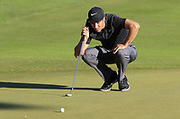 Ross Fisher (ENG) on the 18th green during Thursday's Round 1 of the 2018 Turkish Airlines Open hosted by Regnum Carya Golf &amp; Spa Resort, Antalya, Turkey. 1st November 2018.<br /> Picture: Eoin Clarke | Golffile<br /> <br /> <br /> All photos usage must carry mandatory copyright credit (&copy; Golffile | Eoin Clarke)