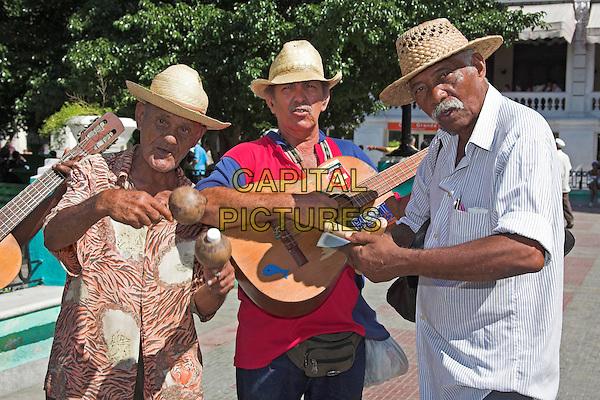 Traditional Cuban band, Parque Cespedes, Santiago de Cuba, Cuba