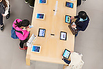 People at Apple store trying new iPad tablets. Ginza, Tokyo, Japan 2014