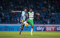 Sido Jombati of Wycombe Wanderers & Francois Zoko of Yeovil Town during the Sky Bet League 2 match between Wycombe Wanderers and Yeovil Town at Adams Park, High Wycombe, England on 14 January 2017. Photo by Andy Rowland / PRiME Media Images.