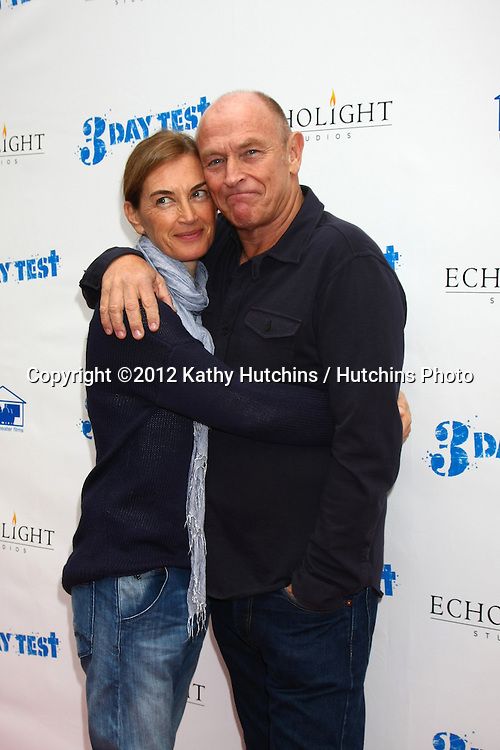 LOS ANGELES - DEC 8:  Amanda Pays, Corbin Bernsen arrives to the '3 Day Test' Screening at Downtown Independent Theater on December 8, 2012 in Los Angeles, CA