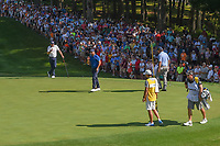 Jason Day (AUS) sinks his putt on 15 during 1st round of the 100th PGA Championship at Bellerive Country Cllub, St. Louis, Missouri. 8/9/2018.<br /> Picture: Golffile | Ken Murray<br /> <br /> All photo usage must carry mandatory copyright credit (© Golffile | Ken Murray)