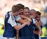 Leigh Griffiths takes the acclaim after scoring the second goal