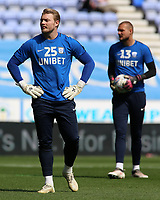 Preston North End's Connor Ripley during the pre-match warm-up <br /> <br /> Photographer David Shipman/CameraSport<br /> <br /> The EFL Sky Bet Championship - Wigan Athletic v Preston North End - Monday 22nd April 2019 - DW Stadium - Wigan<br /> <br /> World Copyright © 2019 CameraSport. All rights reserved. 43 Linden Ave. Countesthorpe. Leicester. England. LE8 5PG - Tel: +44 (0) 116 277 4147 - admin@camerasport.com - www.camerasport.com