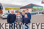 The Daly family at their newly refurbished shop in Murreigh, Waterville pictured l-r; James, Geraldine, Ciaráin, Sean & Eoghan Daly.