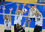 16mVLB NCAA vs Long Beach State 1738<br /> <br /> The BYU Men's Volleyball defeated Long Beach State 3-1 in the Semi-Final Match of the NCAA Volleyball Championships, hosted by Penn State in University Park, Pennsylvania.<br /> <br /> BYU-3<br /> LBSU-1<br /> <br /> April 5, 2016<br /> <br /> Photo by Jaren Wilkey/BYU<br /> <br /> &copy; BYU PHOTO 2016<br /> All Rights Reserved<br /> photo@byu.edu  (801)422-7322
