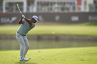 Hideto Tanihara (JPN) in action during the second round of the Omega Dubai Desert Classic, Emirates Golf Club, Dubai, UAE. 25/01/2019<br /> Picture: Golffile | Phil Inglis<br /> <br /> <br /> All photo usage must carry mandatory copyright credit (© Golffile | Phil Inglis)