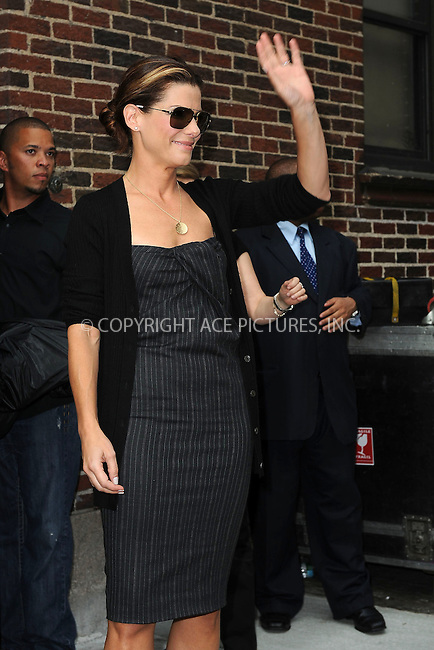WWW.ACEPIXS.COM . . . . . ....June 8 2009, New York City....Actress Sandra Bullock made an appearance at the 'Late Show with David Letterman' at the Ed Sullivan Theatre  on June 8 2009in New York City....Please byline: KRISTIN CALLAHAN - ACEPIXS.COM.. . . . . . ..Ace Pictures, Inc:  ..tel: (212) 243 8787 or (646) 769 0430..e-mail: info@acepixs.com..web: http://www.acepixs.com