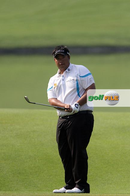 Kiradech Aphibarnrat (THA) on the 16th during the resumed Round 2 of the 2013 Maybank Malaysian Open, Kuala Lumpur Golf and Country Club, Kuala Lumpur, Malaysia 23/3/13...(Photo Jenny Matthews/www.golffile.ie)