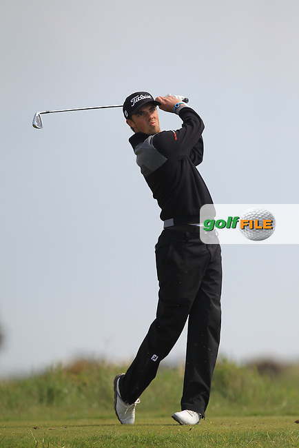 Pierre Verlaar (NED) on the 12th tee during Round 4 of the Flogas Irish Amateur Open Championship at Royal Dublin on Sunday 8th May 2016.<br /> Picture:  Thos Caffrey / www.golffile.ie