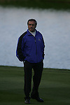 Team Captain Seve Ballesteros watches the action on the final holeduring the first round of the Seve Trophy at The Heritage Golf Resort, Killenard,Co.Laois, Ireland 27th September 2007 (Photo by Eoin Clarke/GOLFFILE)