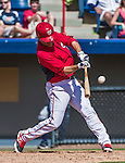 16 March 2014: Washington Nationals infielder Jamey Carroll in action during a Spring Training Game against the Detroit Tigers at Space Coast Stadium in Viera, Florida. The Tigers edged out the Nationals 2-1 in Grapefruit League play. Mandatory Credit: Ed Wolfstein Photo *** RAW (NEF) Image File Available ***