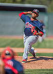 5 September 2016: Lowell Spinners pitcher Dioscar Romero on the mound against the Vermont Lake Monsters at Centennial Field in Burlington, Vermont. The Monsters defeated the Spinners 9-5 to close out their 2016 NY Penn League season. Mandatory Credit: Ed Wolfstein Photo *** RAW (NEF) Image File Available ***