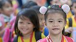Girls in a primary school in the Tondo neighborhood of Manila, Philippines.