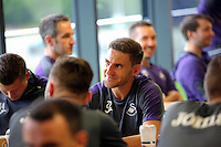 Pictured: Angel Rangel in the canteen Monday 04 July 2016<br />Re: Swansea City FC players at the Landore training ground, return for this season's preparation.