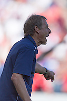Carson, CA - Sunday, February 8, 2015: Head coach Jurgen Klinsmann of the USMNT. The USMNT defeated Panama 2-0 during an international friendly at the StubHub Center