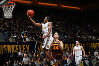 BERKELEY, CA - December 30, 2016: Cal Bears Men's Basketball team vs. the Arizona State Sun Devils at Haas Pavilion. Final score, Cal Bears 81, Arizona State Sun Devils 65.