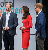 HAYES, UNITED KINGDOM - APRIL 20: William, Duke of Cambridge, Kate, Duchess of Cambridge, Prince Harry attends the official opening of The Global Academy in support of Heads Together on April 20, 2017 in Hayes, England. <br /> CAP/JOR<br /> &copy;JOR/Capital Pictures