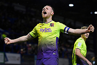 Jake Taylor of Exeter City celebrates scoring the first goal of the match  during Portsmouth vs Exeter City, Leasing.com Trophy Football at Fratton Park on 18th February 2020