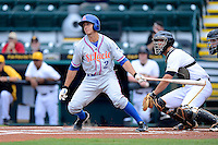 St. Lucie Mets second baseman T.J. Rivera #2 during a game against the Bradenton Marauders on April 12, 2013 at McKechnie Field in Bradenton, Florida.  St. Lucie defeated Bradenton 6-5 in 12 innings.  (Mike Janes/Four Seam Images)