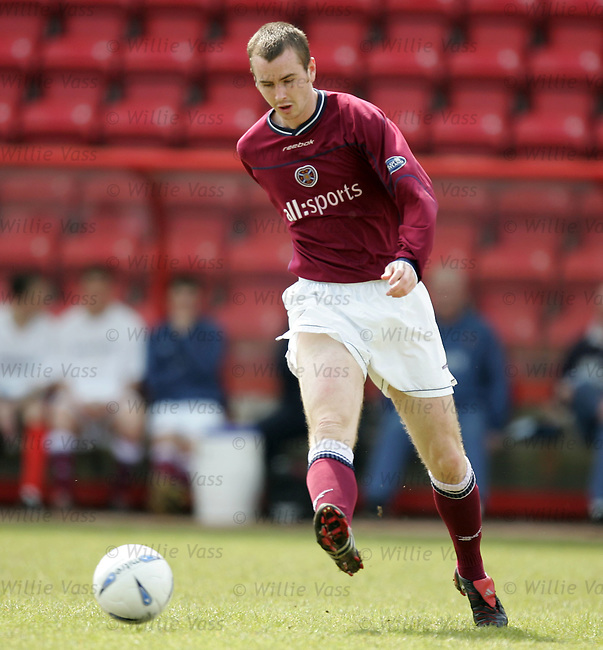 Stephen Simmons, Hearts.stock season 2003-2004.pic willie vass