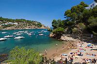 Spain, Catalonia, Costa Brava, Sa Riera, near Begur: Platja de Sa Riera | Spanien, Katalonien, Costa Brava, Sa Riera bei Begur: Platja de Sa Riera