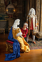 BNPS.co.uk (01202 558833)<br /> Pic: PhilYeomans/BNPS<br /> <br /> Mary of Modena with James II on their wedding night on 23rd November 1673 - The controversial Catholic marriage eventually led to the Glorious Revolution of 1689.<br /> <br /> Wasted Paper...This might be the only chance history fans get to see the incredible paper creations that tell the story of one of Britain's most historic homes, as the National Trust becomes the latest victim of coronavirus.<br /> <br /> 'Fashioned from Paper' had only just opened at Knole House near Sevenoaks before the National Trust annouced the closure of the historic Kent property from today.<br /> <br /> Now Artist Denise Watson's intricate creations may never be seen as know one knows when the historic home will reopen.<br /> <br /> Denise had taken inspiration from the valuable collection of portrait paintings bought up by the aristocratic Sackville-West family over the stately homes 600 year history.<br /> <br /> The enormous building, one of the largest houses in Britain, was once owned by Archbishop Thomas Cranmer before Henry VIII th covetous gaze forced him to hand it over to the acquisitive monarch in the mid 16th century.<br /> <br /> Elizabeth I later gifted Knole to Thomas Sackville, 1st Earl of Dorset, and the Sackville-West's still inhabit part of the property to this day.