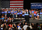 MIAMI, FL - MARCH 08: Senator Bernie Sanders, an independent from Vermont and 2016 Democratic presidential candidate Bernie Sanders holds a Future to Believe In campaign rally at the James L. Knight Center on Tuesday March 8, 2016 in Miami, Florida. ( Photo by Johnny Louis / jlnphotography.com )