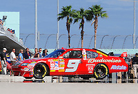 Nov. 15, 2008; Homestead, FL, USA; NASCAR Sprint Cup Series driver Kasey Kahne during practice for the Ford 400 at Homestead Miami Speedway. Mandatory Credit: Mark J. Rebilas-