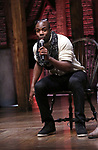 Justin Dine Bryant during the eduHAM Q & A with the cast of Broadway's 'Hamilton' at The Richard Rodgers Theatre on April 25, 2018 in New York City.