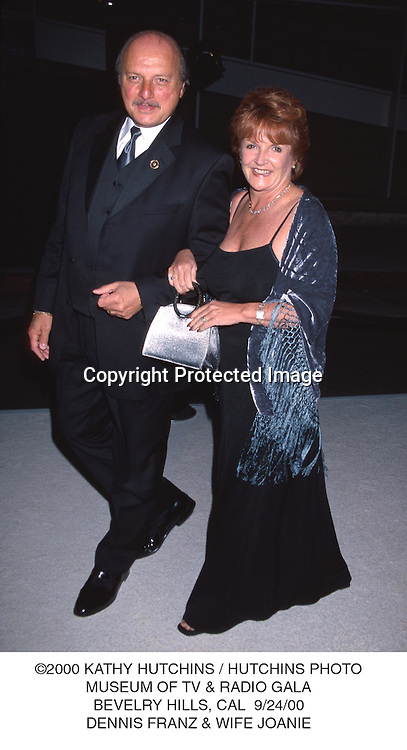 ©2000 KATHY HUTCHINS / HUTCHINS PHOTO.MUSEUM OF TV & RADIO GALA.BEVELRY HILLS, CAL  9/24/00.DENNIS FRANZ & WIFE JOANIE