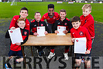 Launching Tralee Dynamos U12/U13 fundraising quiz for a squad trip to England which is going ahead on January 25th<br /> Front l-r, Nick Lacey and Emanuel Brankovic.<br /> Seated l-r, Eddie Lacey and Billy Stack with Thomas Dereki, Shane Stack and Matthew Rogers.