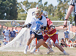 Corona Del Mar, CA 04/02/16 - Jordan Greenhall (Corona Del Mar #18) and Evan Egan (Torrey Pines #22) in action during the non-conference game between the Nike/LM High School Boys' National Western Region #4 Torrey Pines (#4) and #5 Corona Del Mar.  Torrey Pines defeated Corona Del Mar 9-8 in overtime.
