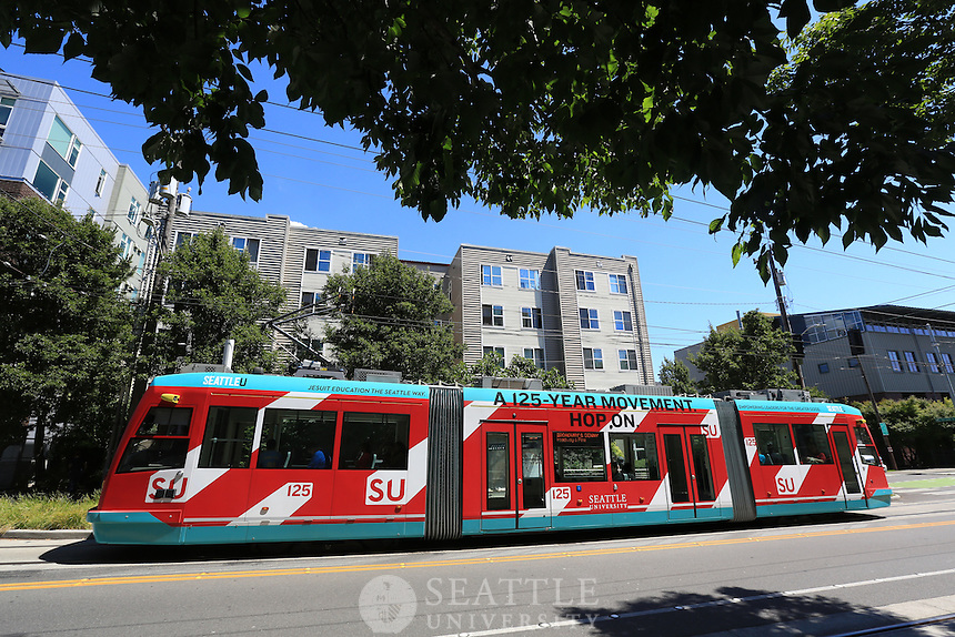 July 14th, 2016- Seattle University Streetcar wrap - International District to Capitol Hill via Broadway route.