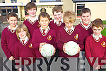Pupils at Holy Family National School who took part in the Fútsal tournament in Killorglin last week. .Front L-R Tony Monaghan, Danny Draghici, Sebastian Vasiu and Mark Roche..Back L-R Brian O'Dowd, Seán Quilter, Luke Murphy and Darragh Hogan.