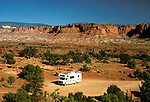 Utah: RV Camping at Capitol Reef, UT..Photo copyright Lee Foster, www.fostertravel.com..Photo #: rvutah101, 510/549-2202, lee@fostertravel.com