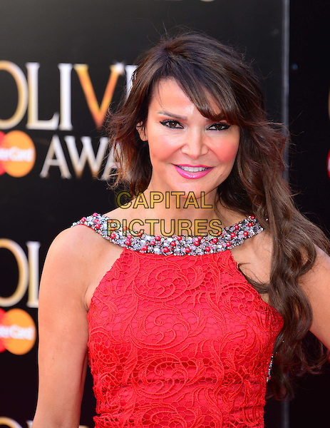LONDON, ENGLAND - APRIL 13:  Lizzie Cundy attends The Olivier Awards, the illustrious ceremony celebrating the very best in English theatre, at Royal Opera House, Covent Garden, on April 13, 2014, in London, England.<br /> CAP/JOR<br /> &copy;Nils Jorgensen/Capital Pictures