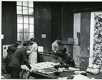 Reco Capey in the Textiles studio c. 1930