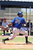 Randoll Santana of the Gulf Coast League Mets during the game against the Gulf Coast League Nationals June 27 2010 at the Washington Nationals complex in Viera, Florida.  Photo By Scott Jontes/Four Seam Images