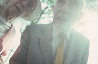 Elderly couple in London in 1996