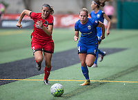 Seattle, WA - Saturday Aug. 27, 2016: Katherine Reynolds, Manon Melis during a regular season National Women's Soccer League (NWSL) match between the Seattle Reign FC and the Portland Thorns FC at Memorial Stadium.