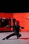 LUX....Durée du spectacle : 1h05....Mise en scène et chorégraphie : Daniel Larrieu..Interprètes : Agnès Coutard, Valérie Castan, Christine Jouve, Anne Laurent, Judith Perron, Jérôme Andrieu, Luc Cerutti, Jonas Chéreau, Olivier Clargé..Textes originaux : Thierry Illouz, Christophe Huysman, Marie Nimier..Lumière : Marie-Christine Soma..Création sonore : Félix Perdreau, Toboflex - Boris Jolivet..Musique : Rameau, Rachmaninov, Ella Fitzgerald..Scénographie : Franck Jamin..Réalisation des décors : Christophe Poux et Franck Jamin..Costumes : Pea Soup, Margaret Pong....Direction technique : Christophe Poux..Régie son : Félix Perdreau..Régie lumière : Eric Corlay..Administration : Chloé Schmidt....Création 2010..Coproduction : La Ferme du buisson - scène nationale de Marne-la-Vallée ; Le Manège - scène nationale de Reims ; Le CNDC d'Angers Avec l'aide à la production d'Arcadi...Avec le soutien de la Ménagerie de Verre dans le cadre des Studiolabs du CCN du Havre et du Théâtre d'Orléans...Lieu : La ferme du Buisson..Ville : Noisiel..Le : 07 02 2010..© Laurent PAILLIER / photosdedanse.com..All rights reserved